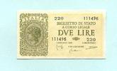 2 Lire 1944 Italien,  II  10.45 US$ 9,50 EUR  +  7.70 US$ shipping