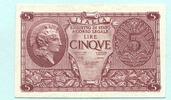 5 Lire 1944 Italien,  II  8.80 US$ 8,00 EUR  +  7.70 US$ shipping