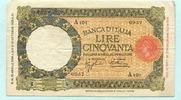 50 Lire 1936 Italien,  III  43.43 US$ 39,50 EUR  +  7.70 US$ shipping
