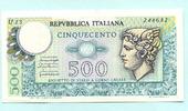 500 Lire 1974 Italien,  Unc  6.60 US$ 6,00 EUR  +  7.70 US$ shipping