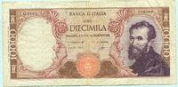 10000 Lire 1964 Italien,  III-  32.44 US$ 29,50 EUR  +  7.70 US$ shipping