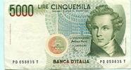 5000 Lire 1985 Italien,  III  7.70 US$ 7,00 EUR  +  7.70 US$ shipping