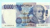 10000 Lire 1984 Italien,  Unc  16.49 US$ 15,00 EUR  +  7.70 US$ shipping