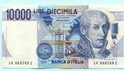 10000 Lire 1984 Italien,  Unc  15.39 US$ 14,00 EUR  +  7.70 US$ shipping