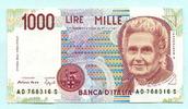 1000 Lire 1990 Italien,  Unc  3.30 US$ 3,00 EUR  +  7.70 US$ shipping