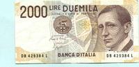 2000 Lire 1990 Italien,  III  3.30 US$ 3,00 EUR  +  7.70 US$ shipping