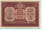 1 Lira 1918 Italien, I. Weltkrieg, III  6.60 US$ 6,00 EUR  +  7.70 US$ shipping