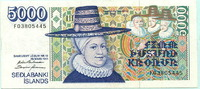 5000 Kronur 1961(1994) Island,  III  75,00 EUR  zzgl. 5,00 EUR Versand