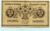 25 Pennia 1918 Finnland,  III  4,00 EUR  zzgl. 5,00 EUR Versand