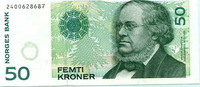 50 Kroner 1996 Norwegen,  Unc  9,50 EUR  zzgl. 5,00 EUR Versand