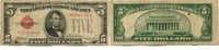 5 Dollars 1928C USA,  IV  15,00 EUR
