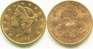 20 Dollars Gold Liberty Double Eagle 1895s USA,  ss/vz  1520.81 US$ 1350,00 EUR  +  42.81 US$ shipping