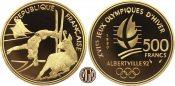 FRANKREICH. V. Republik. 500 Francs 1990 P...