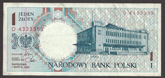 1 zloty 1990 POLAND / POLEN Circulating no...