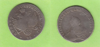 1/2 Livonaise 1757 Russland für Estland un...