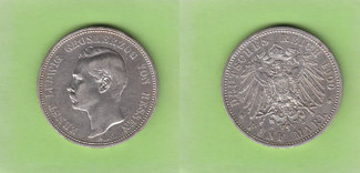 5 Mark 1900 Hessen seltener Jahrgang sehr ...