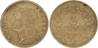 5 Francs 1945 France Lavrillier - 1945 C  761.a ss  18,00 EUR  + 5,00 EUR frais d'envoi
