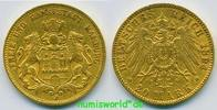 20 Mark 1894  Hamburg - 20 Mark - 1894 ss  /  ss+  339,00 EUR  zzgl. 6,00 EUR Versand