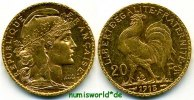 20 Francs 1913 Frankreich Frankreich - 20 Francs - 1913 vz+  291,00 EUR