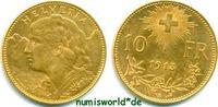 10 Franken 1913 Schweiz Schweiz - 10 Franken - 1913 f. Stg  167,00 EUR