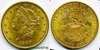 20 Dollars 1907 USA USA - 20 Dollars - 1907 vz  /  vz+  1276,00 EUR