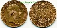 10 Mark 1903  Sachsen - 10 Mark - 1903 ss  /  vz  541,00 EUR  zzgl. 6,00 EUR Versand
