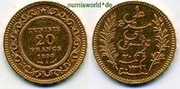 20 Francs 1898 Tunesien Tunesien - 20 Francs - 1898 vz  274,00 EUR  zzgl. 6,00 EUR Versand