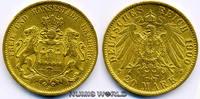 20 Mark 1900  Hamburg - 20 Mark - 1900 vz  341,00 EUR  zzgl. 6,00 EUR Versand