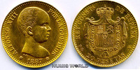 20 Pesetas 1887 Spanien Spanien - 20 Pesetas - 1887 f. Stg  360,00 EUR  zzgl. 6,00 EUR Versand