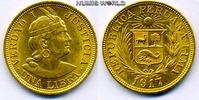 1 Libra 1917 Peru Peru - 1 Libra - 1917 vz  375,00 EUR  zzgl. 6,00 EUR Versand