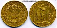 20 Francs 1897 Frankreich Frankreich - 20 Francs - 1897 ss  /  vz  287,00 EUR  plus 17,00 EUR verzending