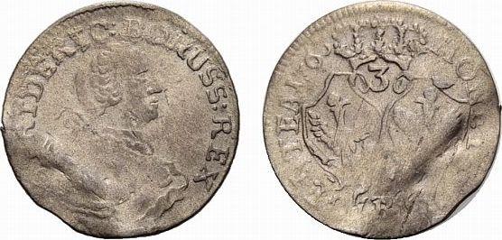 Friedrich Ii 1740-1786 Brandenburg-preußen 3 Kreuzer 1763 B, Breslau