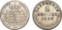 Sachsen-Meiningen 6 Kreuzer Bernhard Erich Freund 1803-1866