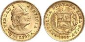 1/5 Libra Gold 1906 Peru Republik seit 182...