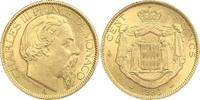 100 Francs Gold 1886  A Monaco Charles III 1856-1889. Vorzüglich  1844.29 US$ 1600,00 EUR free shipping