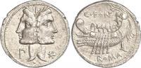 Denar  114-130  n. Chr. Republik C. Fonteius 114-130 v. Chr.. Vorzüglich  555.22 US$ 500,00 EUR