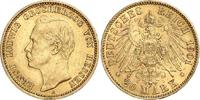20 Mark Gold 1901  A Hessen Ernst Ludwig 1892-1918. Winziger Randfehler... 566.32 US$ 510,00 EUR