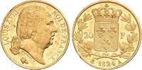 20 Francs Gold 1824  A Frankreich Ludwig XVIII 1814-1824. Winzige Kratz... 350,00 EUR kostenloser Versand