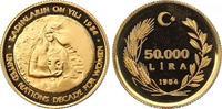 50000 Lira Gold 1984 Türkei Republik. Polierte Platte  518.71 US$ 450,00 EUR free shipping