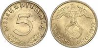 5 Pfennig 1936  A Drittes Reich  Fast Stempelglanz  149.85 US$ 130,00 EUR  +  6.92 US$ shipping