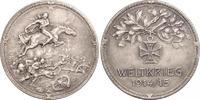 Silbermedaille  Erster Weltkrieg Allgemeine Propaganda Mattiert. Vorzüg... 200,00 EUR kostenloser Versand