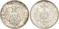 2 Mark 1901  A Lübeck  Prachtexemplar. Schöne Patina. Fast Stempelglanz  536.58 US$ 480,00 EUR free shipping
