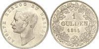 Gulden 1855 Nassau Adolph 1839-1866. Prachtexemplar. Fast Stempelglanz  500,00 EUR kostenloser Versand