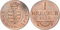 Cu Kreuzer 1818 Sachsen-Meiningen Bernhard Erich Freund 1803-1866. Vorz... 89.43 US$ 80,00 EUR  +  6.71 US$ shipping