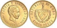 5 Pesos Gold 1916 Kuba Republik seit Winzige Kratzer, vorzüglich  391.26 US$ 350,00 EUR free shipping