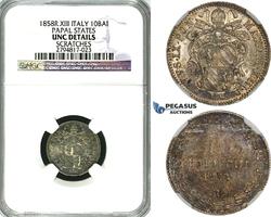10 Baiocchi 1858 Italy Pius IX NGC unz