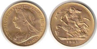 Half Sovereign 1901 Grossbritannien Victor...