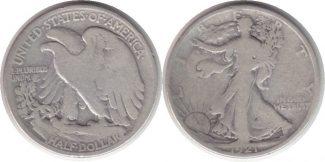 1/2 Dollar 1921 USA 1/2 Dollar 1921 S Walk...