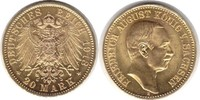 20 Mark 1913 Kaiserreich Sachsen Friedrich August III. Gold 20 Mark 191... 895,00 EUR