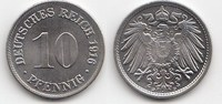 10 Pfennig 1916 D Kaiserreich  Prachtexemplar, Stempelglanz  25,00 EUR  +  5,00 EUR shipping